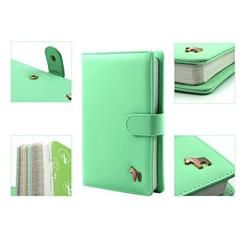 Laconile Pu Leather Cute Colorful Pages Weekly Monthly Yearly