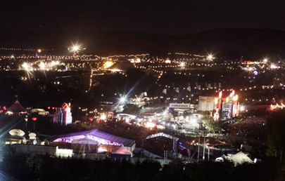 Bestival_2011_Arena By night
