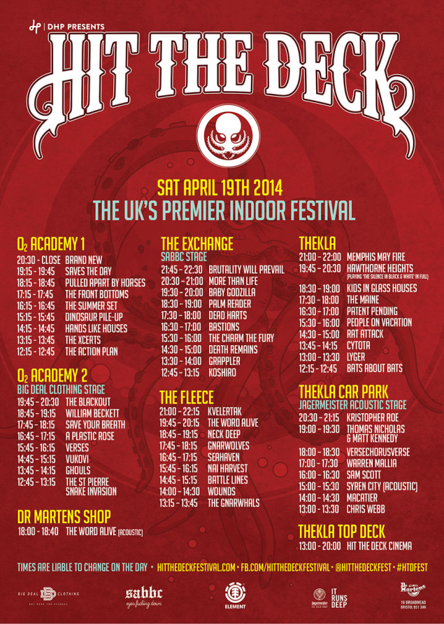 Hit The Deck 2014 Hit The Deck 2014 Stage Times